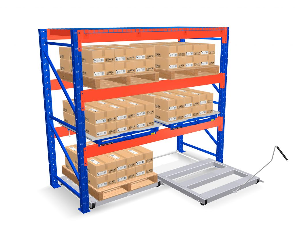 Floor Mounted Roll Out Pallet