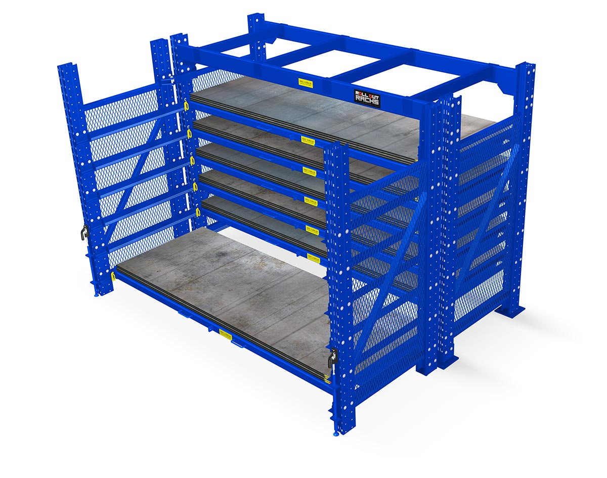 Roll out sheet rack, rolloutracks