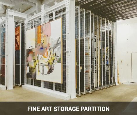 art storage wire mesh partition