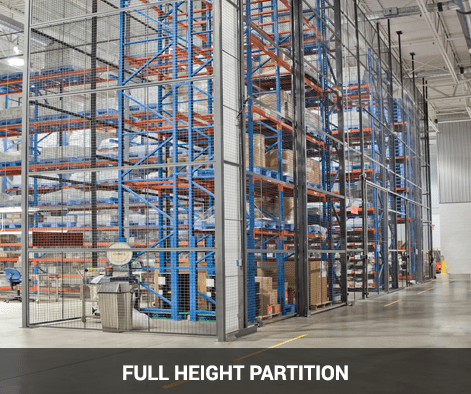 full height wire mesh partition