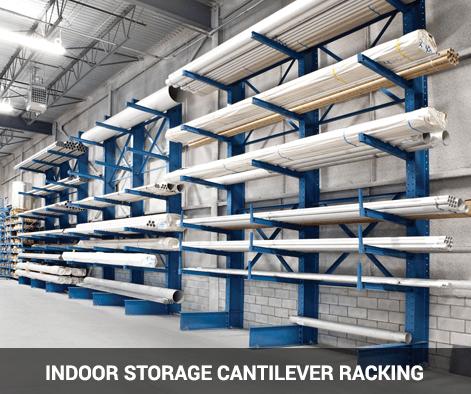 Indoor storage cantilever racking