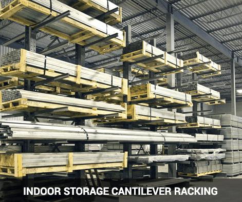 Indoor storage cantilever rack