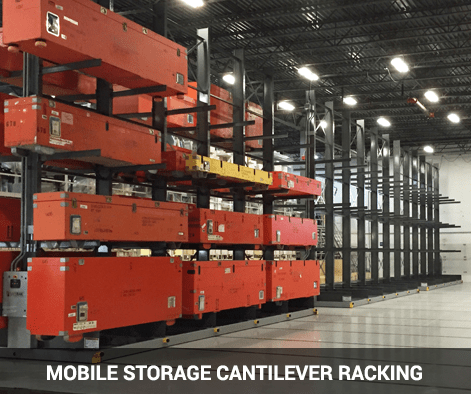mobile storage cantilever racking