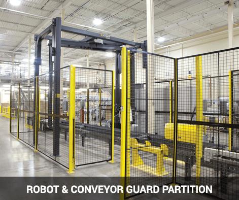 Robot & conveyor guard partition