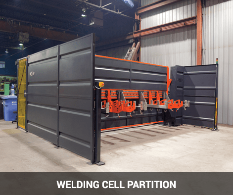 welding cell solid steel partition