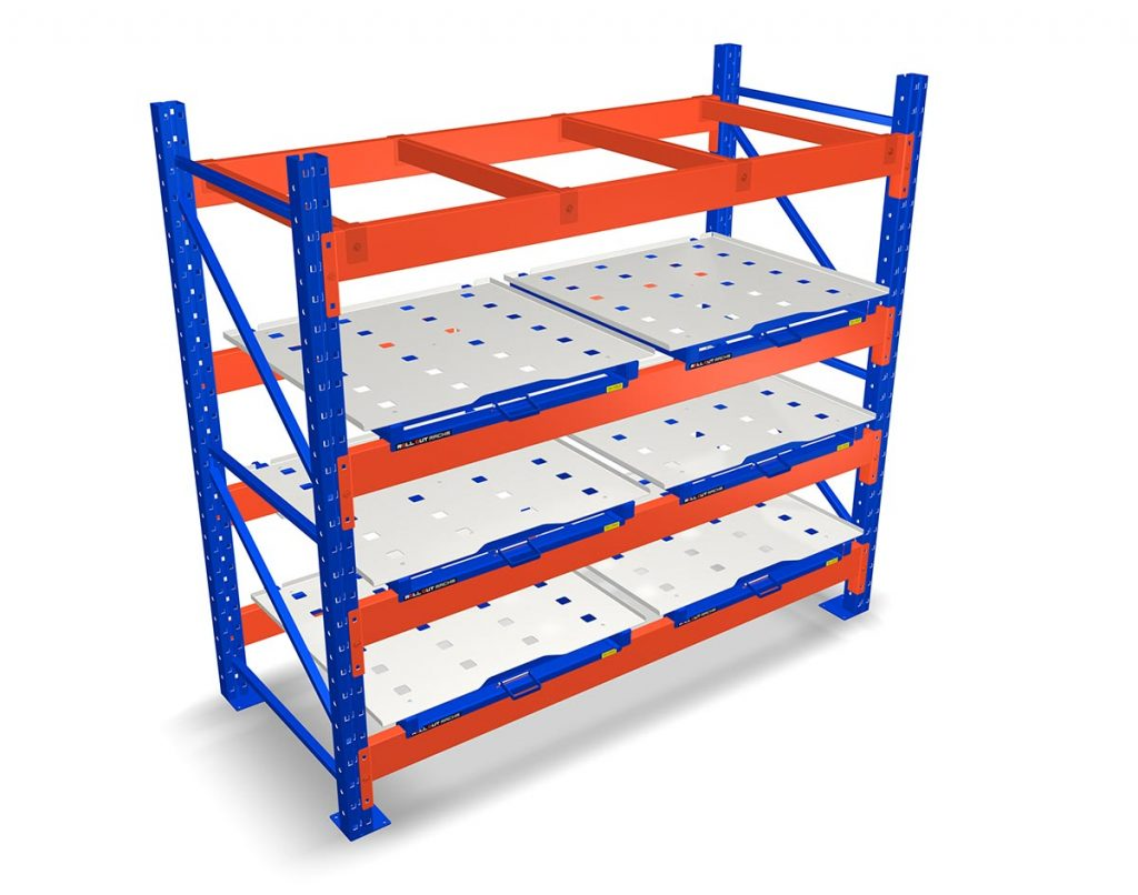 Roll out rack mounted pallet