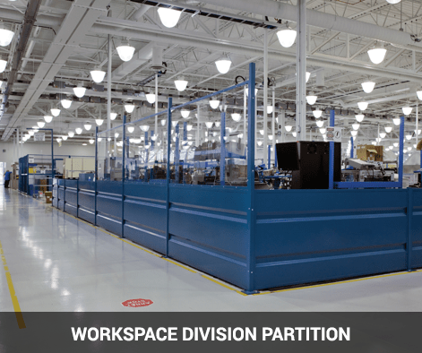 steel partition with lexan